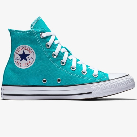 Converse Shoes   Teal High Top Converse